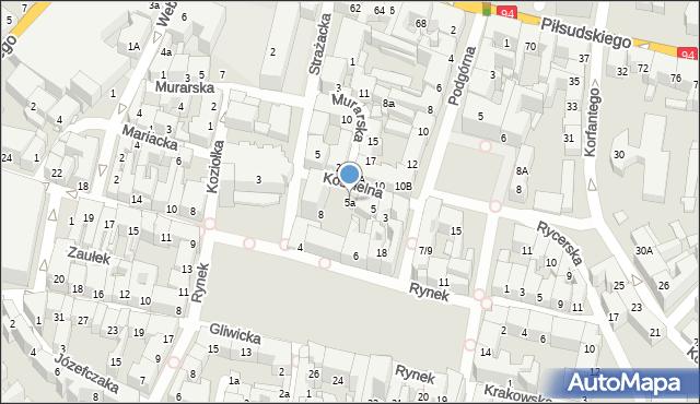 Bytom, Kościelna, 5a, mapa Bytomia
