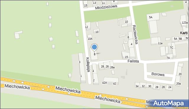Bytom, Kołłątaja Hugo, 6, mapa Bytomia