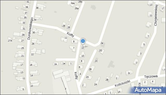 Bytom, Kofty Jonasza, 12, mapa Bytomia