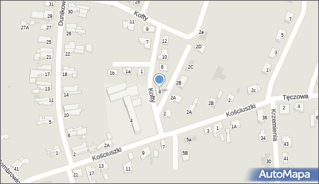 Bytom, Kofty Jonasza, 4, mapa Bytomia