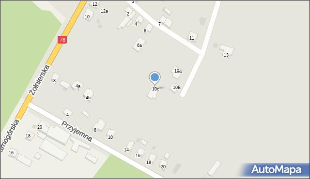 Bytom, Koksowa, 10c, mapa Bytomia