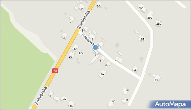 Bytom, Koksowa, 2, mapa Bytomia