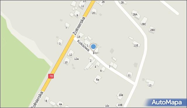 Bytom, Koksowa, 3, mapa Bytomia