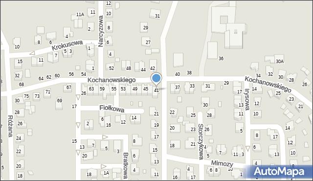 Chełm, Kochanowskiego Jana, 41, mapa Chełma