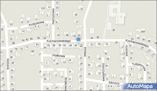 Chełm, Kochanowskiego Jana, 43, mapa Chełma