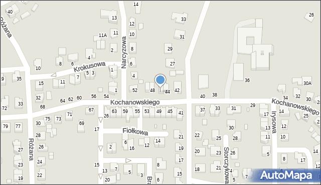 Chełm, Kochanowskiego Jana, 46, mapa Chełma