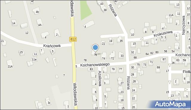 Chełm, Kochanowskiego Jana, 76, mapa Chełma