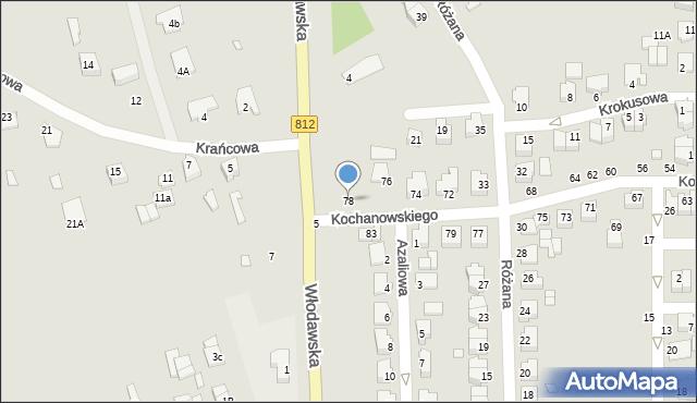 Chełm, Kochanowskiego Jana, 78, mapa Chełma
