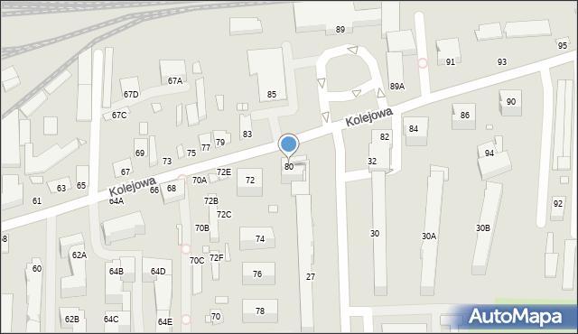 Chełm, Kolejowa, 80, mapa Chełma