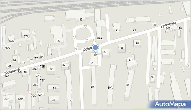 Chełm, Kolejowa, 82, mapa Chełma