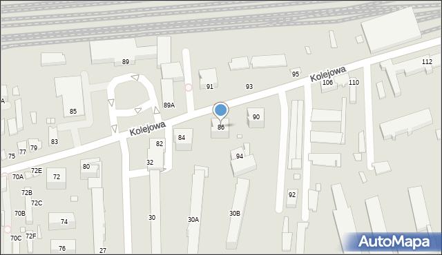 Chełm, Kolejowa, 86, mapa Chełma