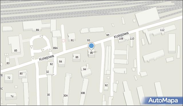 Chełm, Kolejowa, 90, mapa Chełma