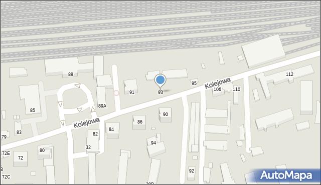 Chełm, Kolejowa, 93, mapa Chełma