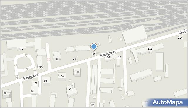Chełm, Kolejowa, 95, mapa Chełma