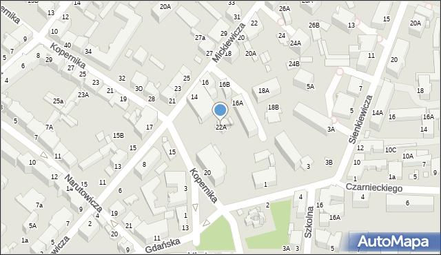 Chełm, Kopernika Mikołaja, 22A, mapa Chełma