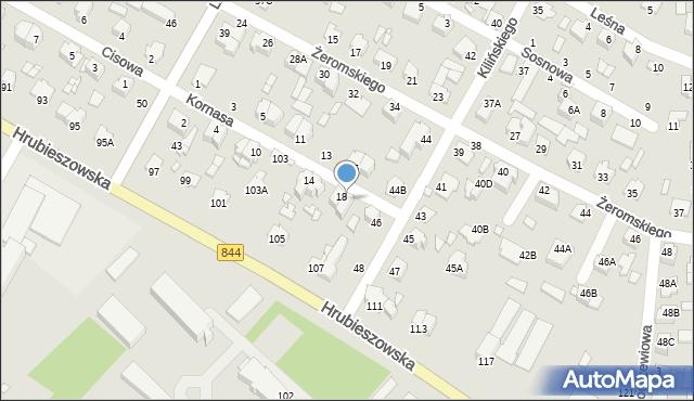 Chełm, Kornasa Eugeniusza, 20, mapa Chełma