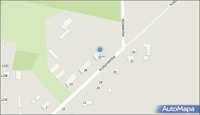 Chełm, Kosynierów, 1C, mapa Chełma