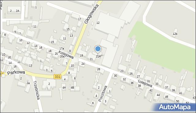 Chocianów, Kolejowa, 21A, mapa Chocianów