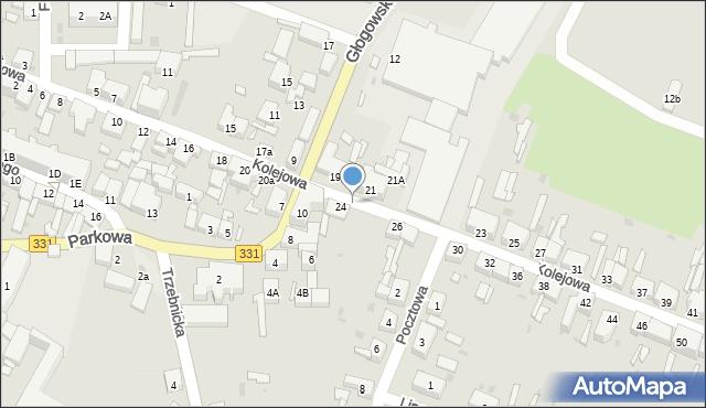 Chocianów, Kolejowa, 225, mapa Chocianów