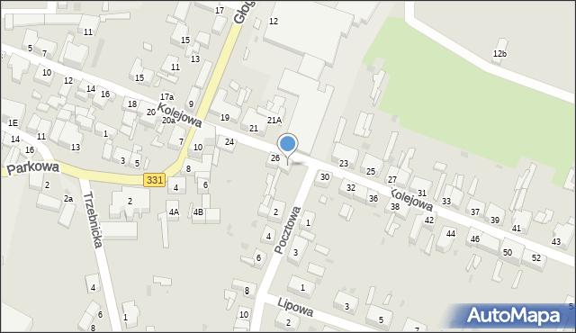 Chocianów, Kolejowa, 28, mapa Chocianów