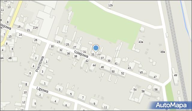 Chocianów, Kolejowa, 35, mapa Chocianów