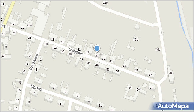Chocianów, Kolejowa, 37, mapa Chocianów