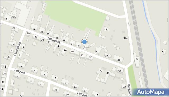 Chocianów, Kolejowa, 41, mapa Chocianów