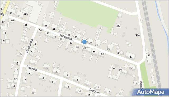 Chocianów, Kolejowa, 46, mapa Chocianów