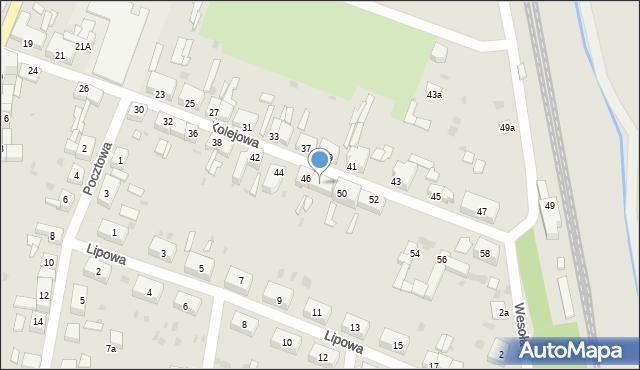 Chocianów, Kolejowa, 48, mapa Chocianów