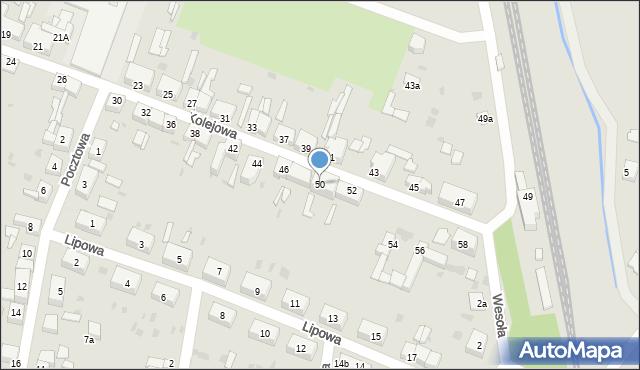 Chocianów, Kolejowa, 50, mapa Chocianów