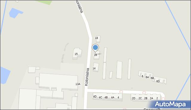 Chocianów, Kolonialna, 16, mapa Chocianów