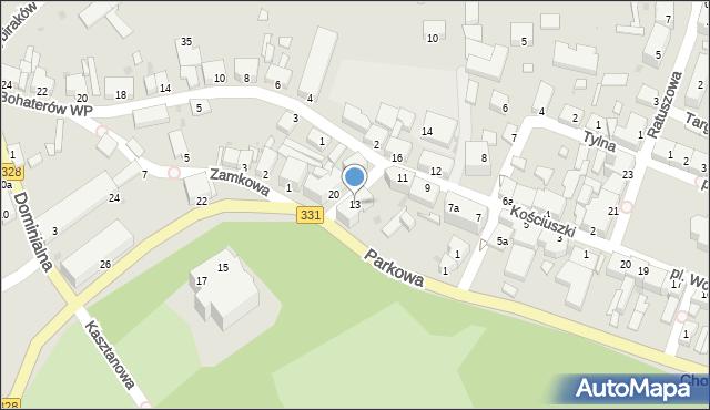 Chocianów, Kościuszki Tadeusza, gen., 13, mapa Chocianów