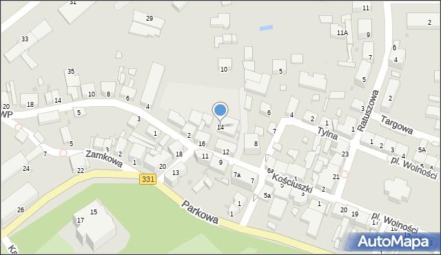 Chocianów, Kościuszki Tadeusza, gen., 14, mapa Chocianów