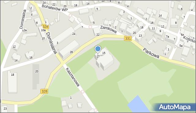 Chocianów, Kościuszki Tadeusza, gen., 17, mapa Chocianów