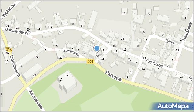 Chocianów, Kościuszki Tadeusza, gen., 20, mapa Chocianów