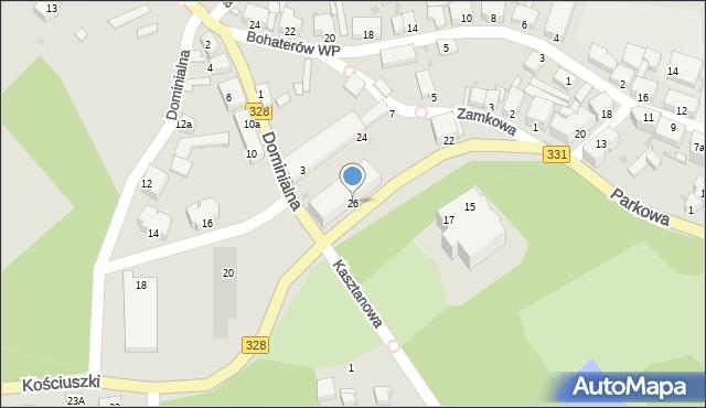 Chocianów, Kościuszki Tadeusza, gen., 26, mapa Chocianów