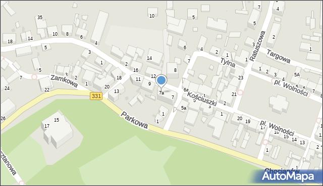 Chocianów, Kościuszki Tadeusza, gen., 7a, mapa Chocianów
