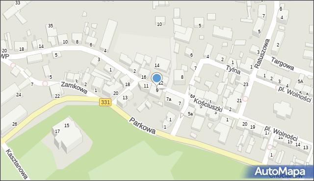 Chocianów, Kościuszki Tadeusza, gen., 9, mapa Chocianów
