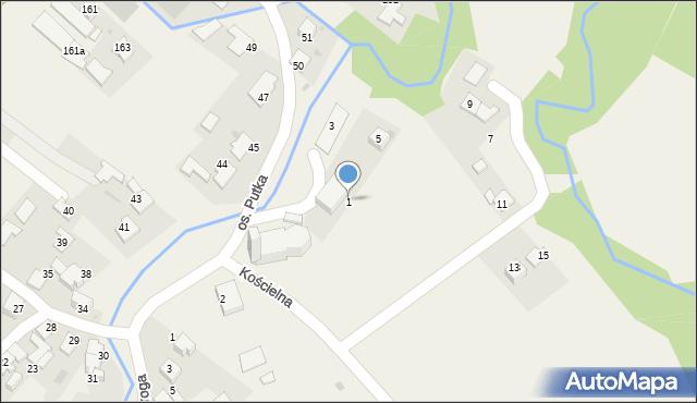 Chocznia, Kościelna, 1, mapa Chocznia