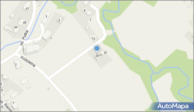 Chocznia, Kościelna, 13, mapa Chocznia