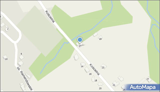 Chocznia, Kościelna, 17, mapa Chocznia