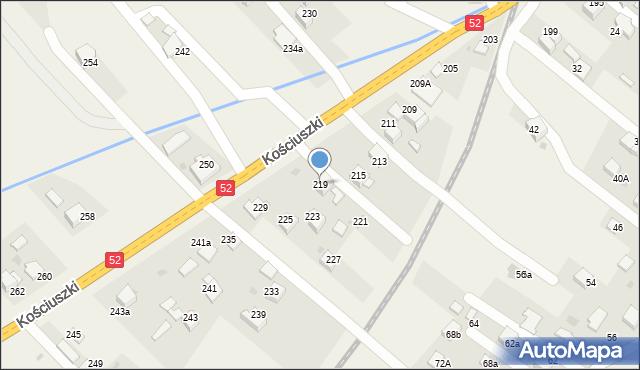 Chocznia, Kościuszki Tadeusza, gen., 219, mapa Chocznia