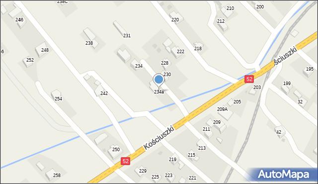 Chocznia, Kościuszki Tadeusza, gen., 234a, mapa Chocznia