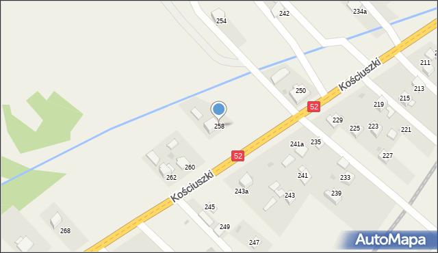 Chocznia, Kościuszki Tadeusza, gen., 258, mapa Chocznia