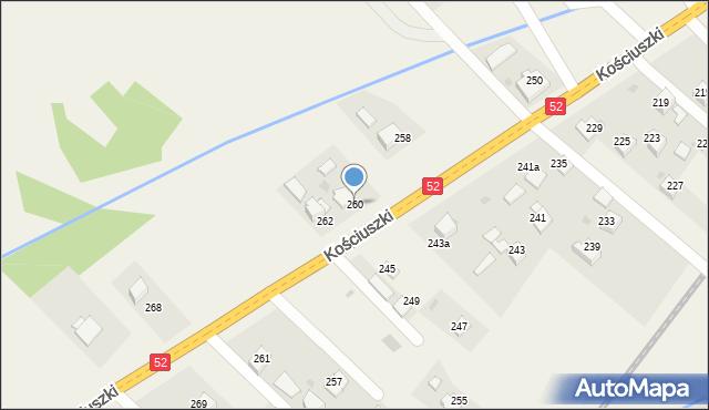 Chocznia, Kościuszki Tadeusza, gen., 260, mapa Chocznia