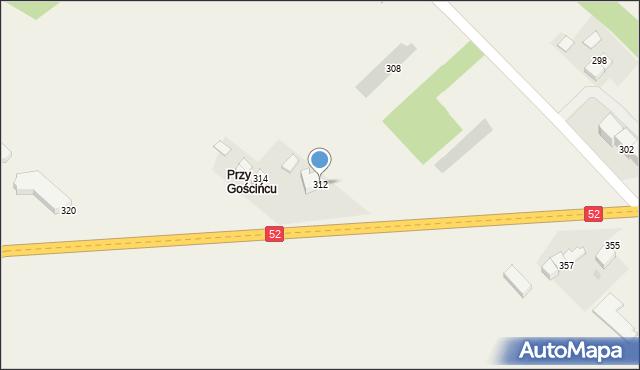 Chocznia, Kościuszki Tadeusza, gen., 312, mapa Chocznia