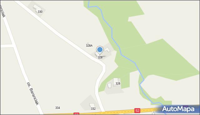Chocznia, Kościuszki Tadeusza, gen., 328, mapa Chocznia