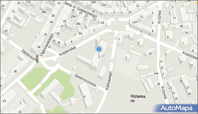 Chorzów, Kopernika Mikołaja, 1, mapa Chorzów