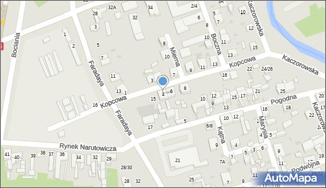 Częstochowa, Kopcowa, 4, mapa Częstochowy