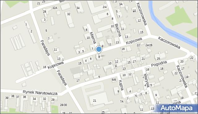 Częstochowa, Kopcowa, 8, mapa Częstochowy